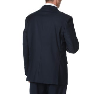 Caravelli Italy Men's Navy Double Breasted Suit