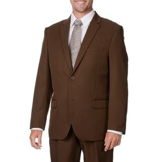 Bolzano Uomo Collezione Men's Cocoa 2-button Suit|https://ak1.ostkcdn.com/images/products/9441305/P16626719.jpg?impolicy=medium