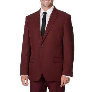 Bolzano Uomo Collezione Men's Burgundy 2-button Suit (As Is Item)