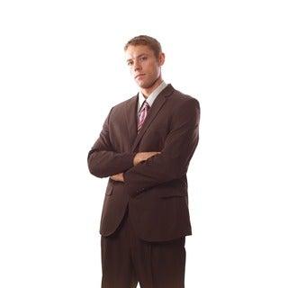 Bolzano Uomo Collezione Men's Brown 2-button Suit