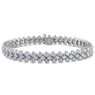 Miadora Signature Collection 14k White Gold 9 1/5ct TDW Diamond Bracelet (G-H, SI1-SI2)