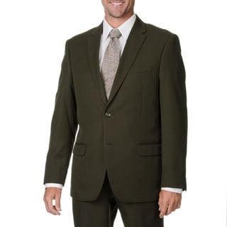 Bolzano Uomo Collezione Men's Olive Polyester 2-button Suit
