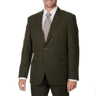 Bolzano Uomo Collezione Men's Olive Polyester 2-button Suit|https://ak1.ostkcdn.com/images/products/9441319/P16626724.jpg?impolicy=medium