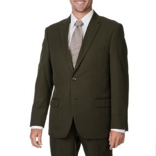 Bolzano Uomo Collezione Men's Olive Polyester 2-button Suit (More options available)