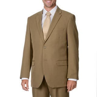 Bolzano Uomo Collezione Men's Tan 2-button Suit|https://ak1.ostkcdn.com/images/products/9441320/P16626725.jpg?impolicy=medium