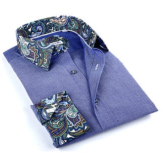 John Lennon Men's Purple Paisley Button-up Sport Shirt