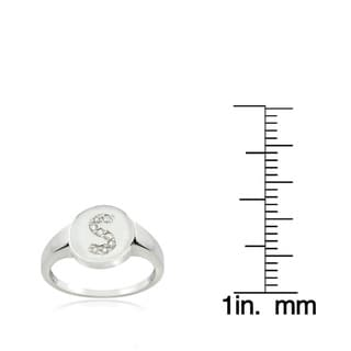 DB Designs Sterling Silver 1/10CT TDW Diamond S Initial Ring