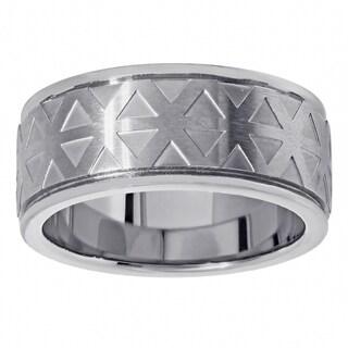 Titanium Geometric Design Fashion Ring (2 options available)