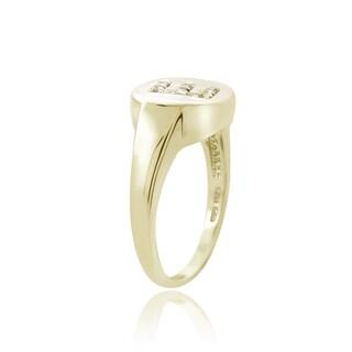 DB Designs Sterling Silver 1/10ct TDW Diamond E Initial Ring