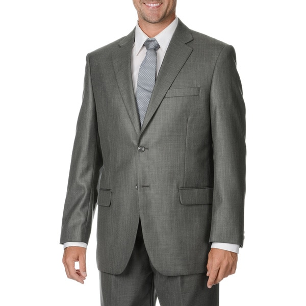Caravelli Italy Men's Grey 2-piece Suit - Free Shipping Today ...