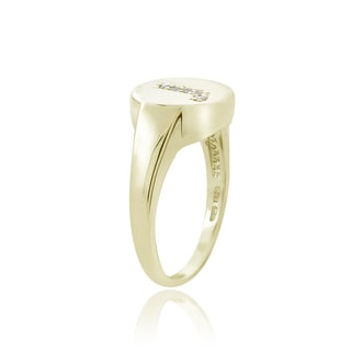 DB Designs Sterling Silver Diamond Accent J Initial Ring