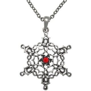 Pewter Celtic Knot Star Of Creation 24-inch Pendant Chain Necklace