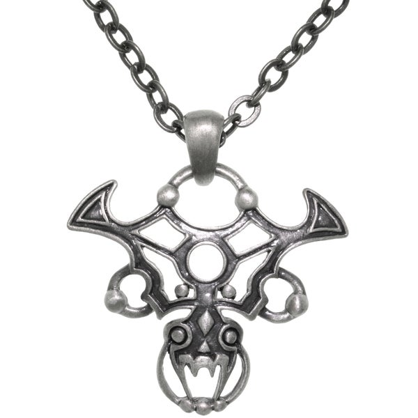 Pewter Gothic Tribal Dragon 24-inch ChainPendant Necklace