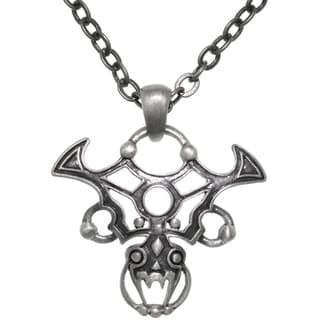Carolina Glamour Collection Pewter Gothic Tribal Dragon 24-inch ChainPendant Necklace
