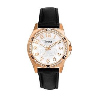 Caravelle by Bulova Women's 44L104 Rose Goldtone Crystal Watch