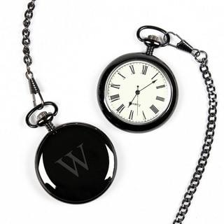 Men's Personalized Gunmetal Pocket Watch