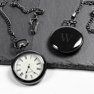 Men's Personalized Gunmetal Pocket Watch|https://ak1.ostkcdn.com/images/products/9441497/P16626807.jpg?impolicy=medium