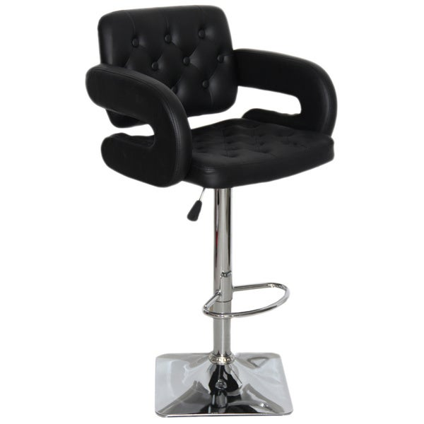 3 Bar Stools High Seat Chairs Adjustable Swivel Counter: Olivia Adjustable Swivel Bar Stool