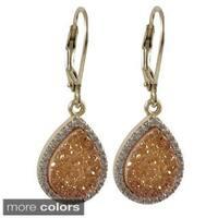 Luxiro Sterling Silver Multi-gemstone Dangling Earrings