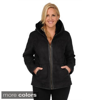 Excelled Women's Plus Size Faux Shearling Hooded Hipster Jacket|https://ak1.ostkcdn.com/images/products/9441800/P16627105.jpg?_ostk_perf_=percv&impolicy=medium