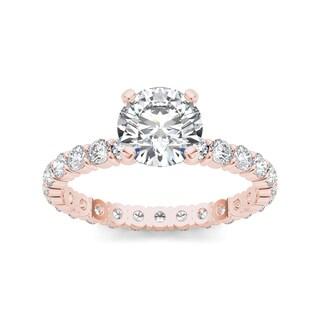 De Couer 14k Rose Gold 2 1/2ct TDW Diamond Engagement Ring