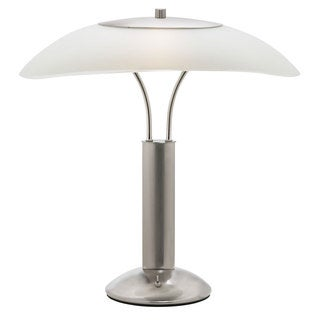 Satin Chrome and Frosted Glass Modern 1-light Table Lamp