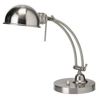 Satin Chrome Adjustable Arm and Shade Pharmacy Desk Lamp