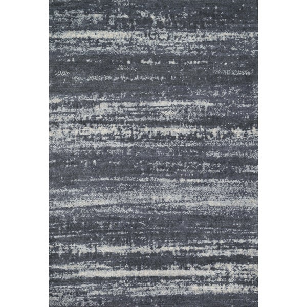 Microfiber Woven Stark Slate Rug (7'6 x 9'6)