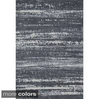 Microfiber Woven Stark Slate Rug (7'6 x 9'6) - 7'6 x 9'6