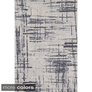Microfiber Woven Stark Modern Abstract Rug (7'6 X 9'6)