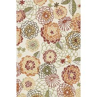 Hand-hooked Charlotte Ivory/ Spice Rug - 3'6 x 5'6