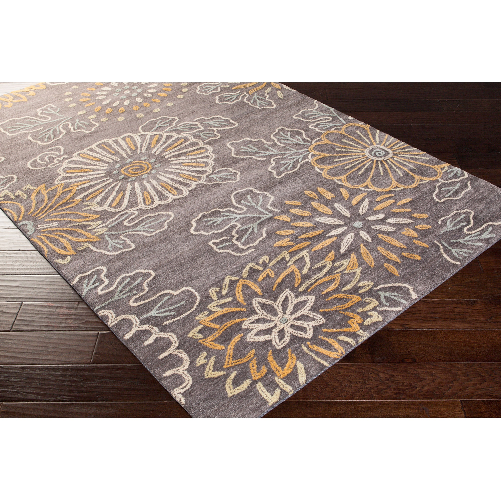 Hand-tufted Gisborne Transitional Floral Area Rug (8' x 1...