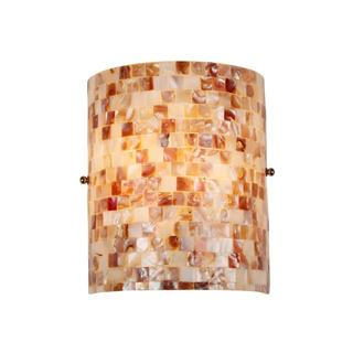 Sea Shell Mosaic and Glass 1-light Wall Sconce