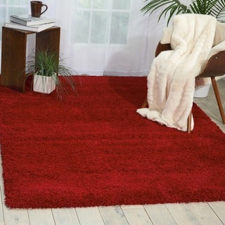 Nourison Amore Red Shag Area Rug (3'11 x 5'11)