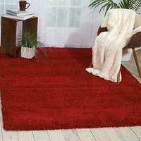 Nourison Amore Red Shag Area Rug