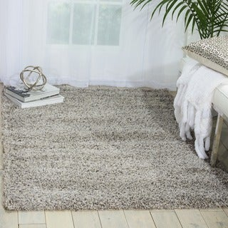 Nourison Amore Light Grey Shag Area Rug (3'11 x 5'11)
