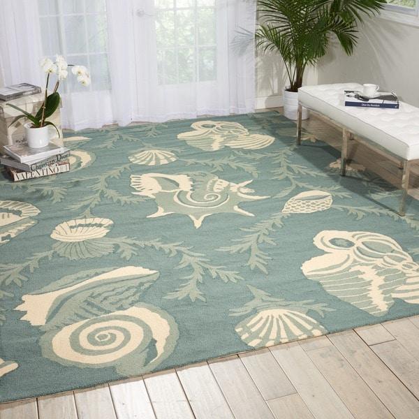 Nourison Portico Aqua Floral Indoor/ Outdoor Area Rug (5