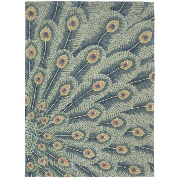 Nourison Moda Peacock Animal Rug - 7'6 x 9'6