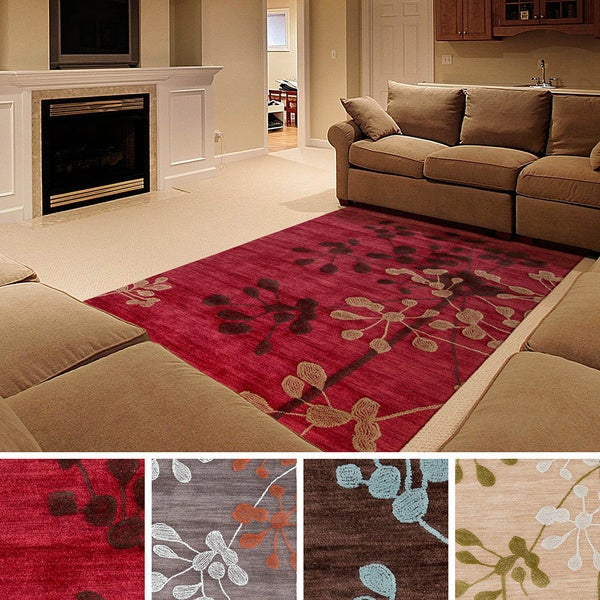 "Hand-tufted Detroit Transitional Floral Area Rug (3'3"" X 5"