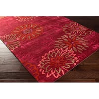 Hand-tufted Ales Transitional Floral Area Rug - 2' x 3'