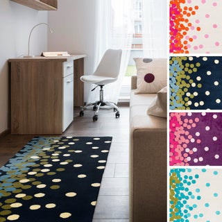 "Meticulously Woven Dottie Contemporary Runner (2'6"" x 8')"