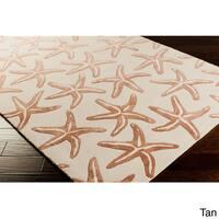 Coastal Starfish Wool Accent Area Rug