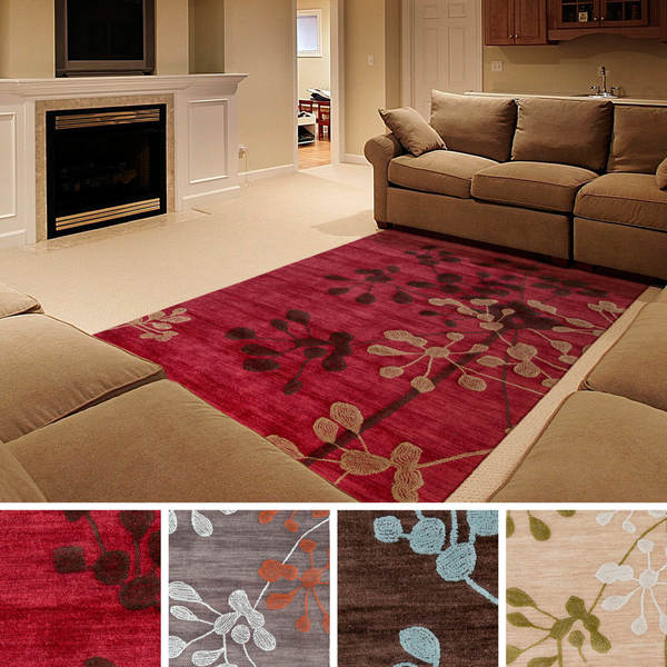 Hand Tufted GizaTransitional Floral Area Rug