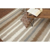 Lada Flatweave Striped Area Rug (8' x 11')