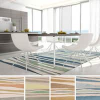 Havenside Home Cobb Island Striped Wool Area Rug - 5' x 8'