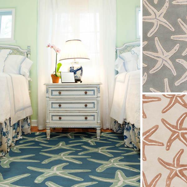 coastal starfish wool area rug (8' x 11') - free shipping today