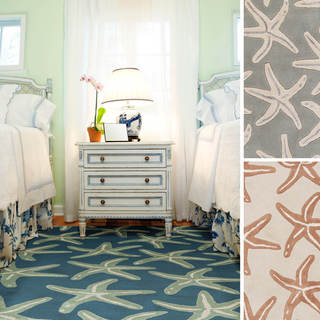 Coastal Starfish Wool Area Rug (5u0027 ...