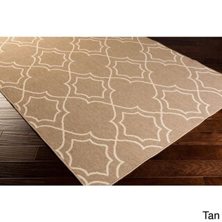 Natasha Contemporary Trellis Indoor/ Outdoor Area Rug (Option: Tan)
