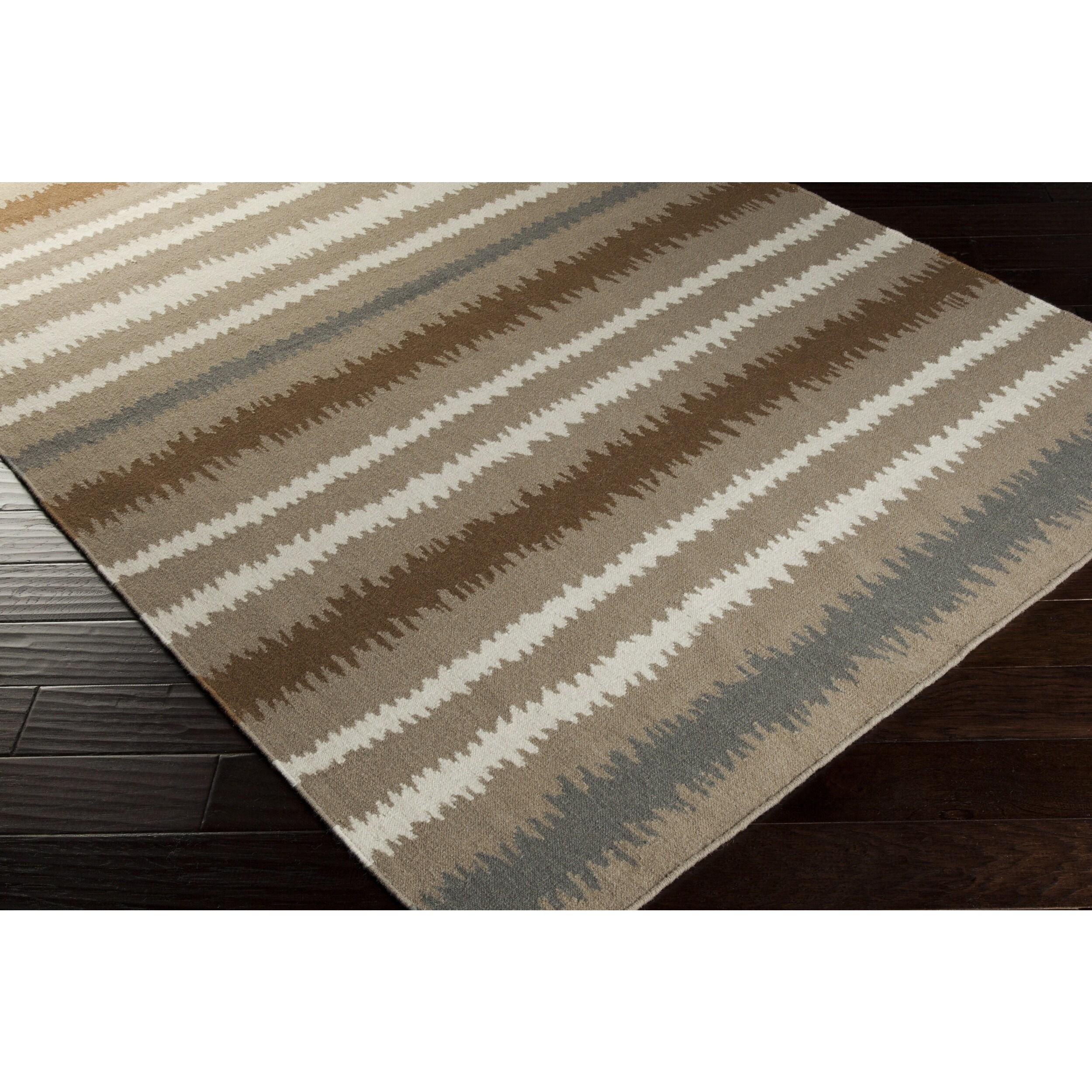 Lavinia Flatweave Striped Runner (2'6 x 8') (Brown - (2'6...