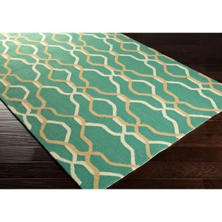 Hand-Hooked Maya Geometric Indoor/ Outdoor Area Rug (9' x 12')